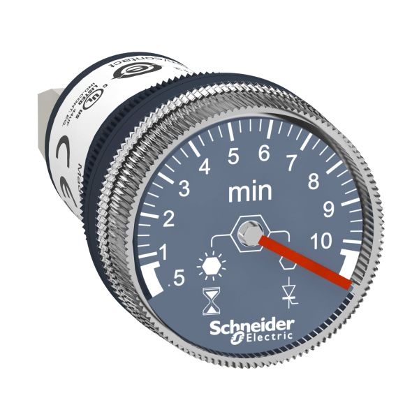 Schneider Electric XB5DTGM4 Tidsrelé 22 mm, 100–240 V 0,5-10 min