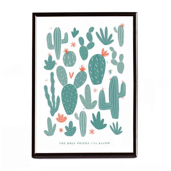 Cactus Pricks Riso Print A4