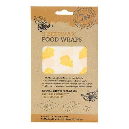 Tala Cheese Food Wax Wraps sett med 3