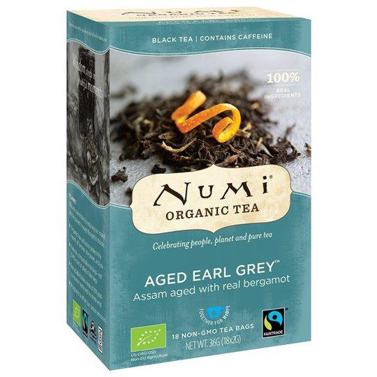 Numi Organic Tea Aged Earl Grey, 18 påsar