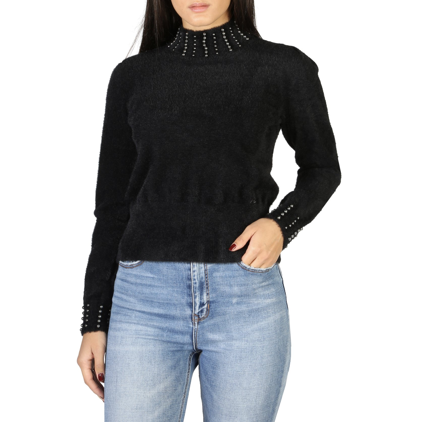 Yes Zee Women's Sweater Various Colours 1665_M055 - black XL