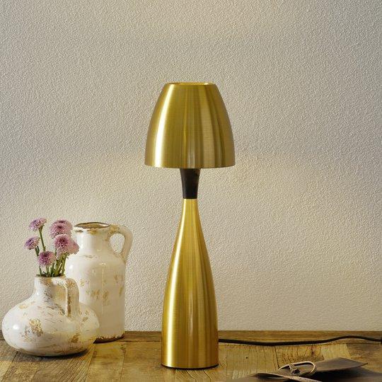 Messingin värinen Anemon LED-pöytävalaisin 38,9 cm