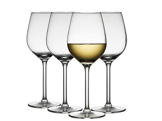 Lyngby Glas - Jewel White Wine Glass 38 cl - Set of 4 (916256)