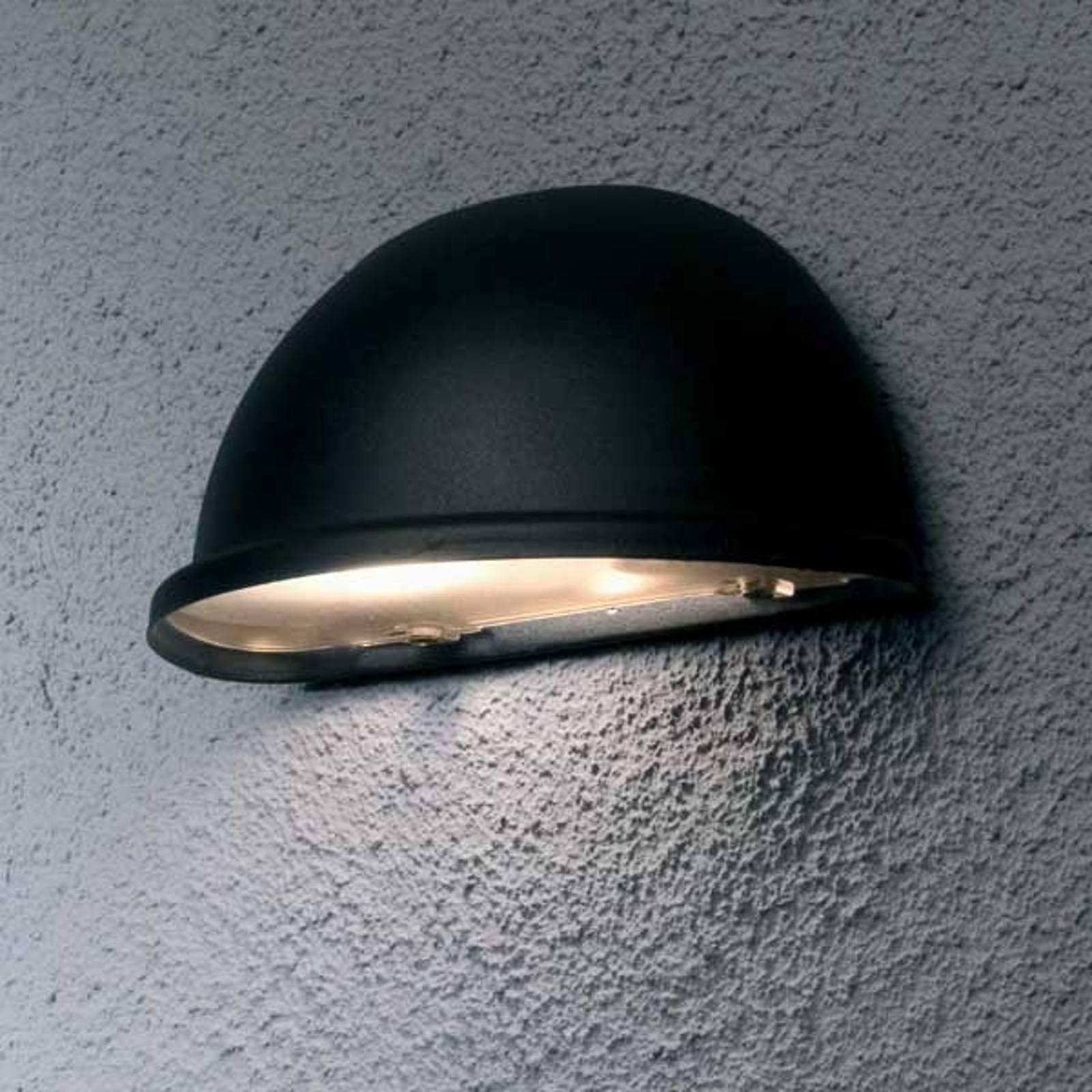 Vakker utendørs TORINO E14 vegglampei svart