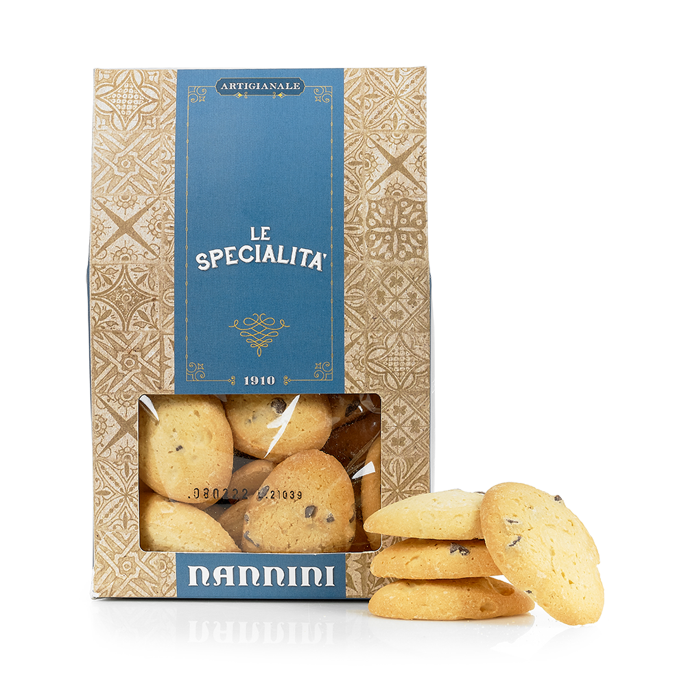 Dark Chocolate Chip Biscuits 300g by Nannini