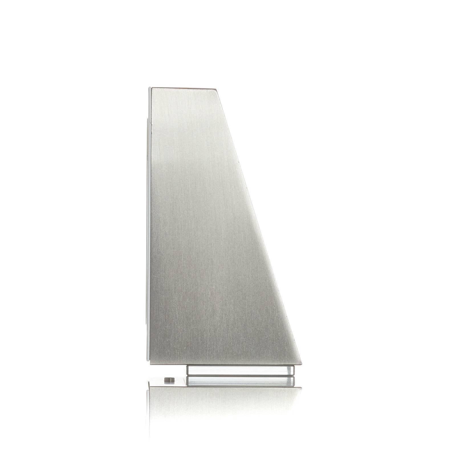 BEGA 78052-vegglampe trapes 3000K 18 cm stål,510lm