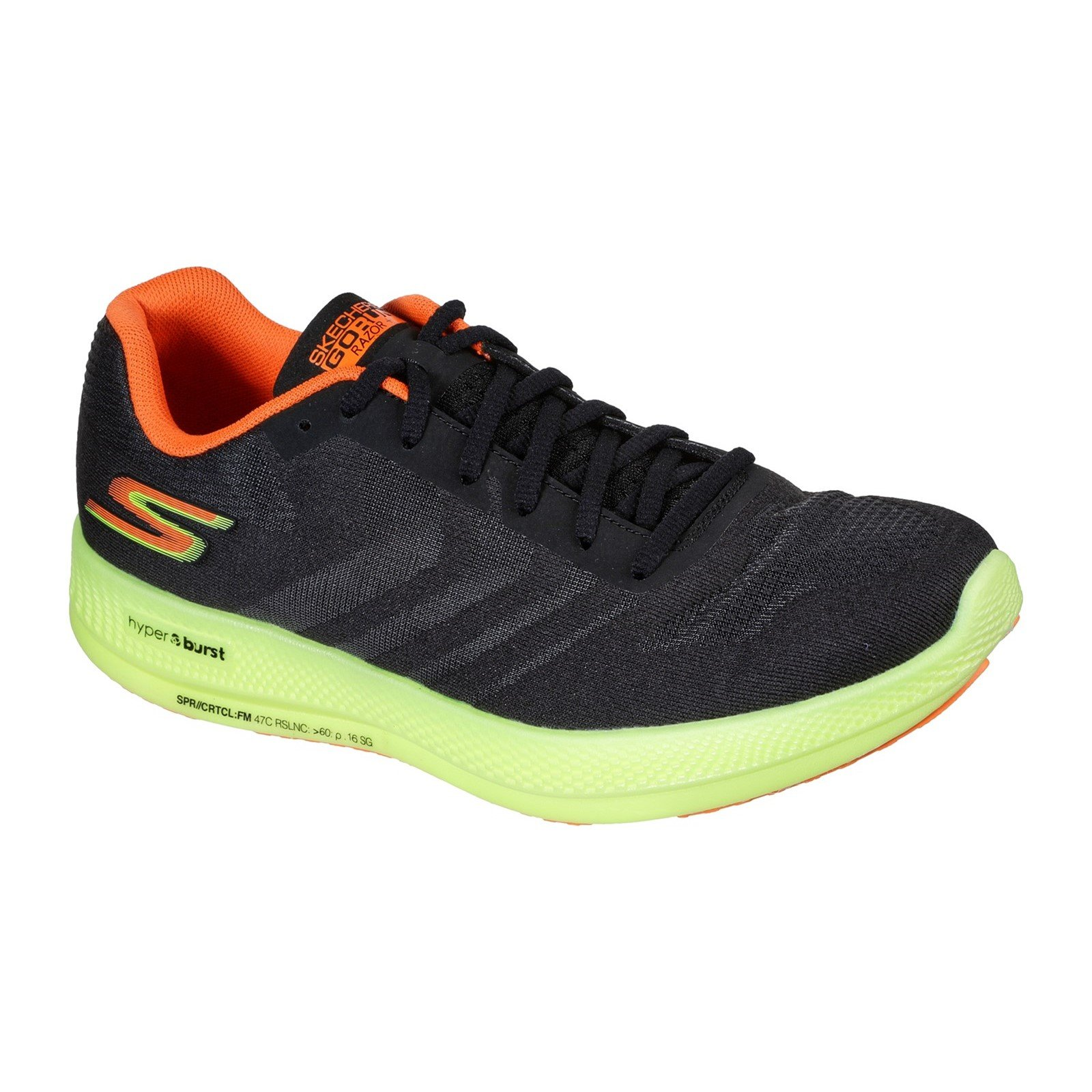 Skechers Women's Go Run Razor Trainer Various Colours 32703 - Black/Yellow/Orange 5