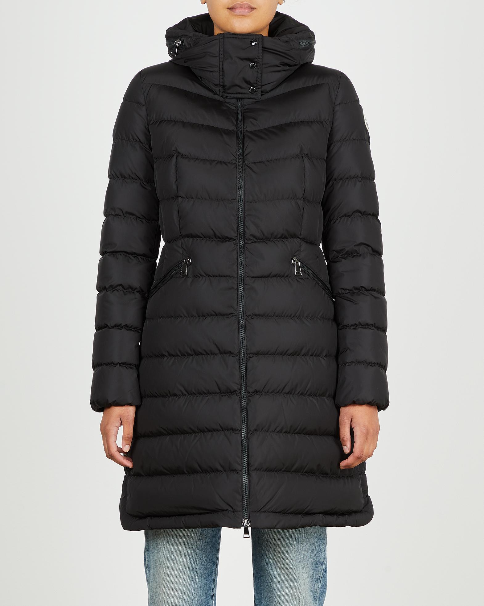 Moncler Jacka Flammette Long Coat svart