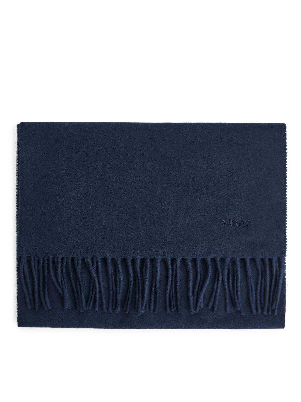 Woven Wool Scarf - Blue