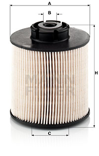 Polttoainesuodatin MANN-FILTER PU 1046/1 x