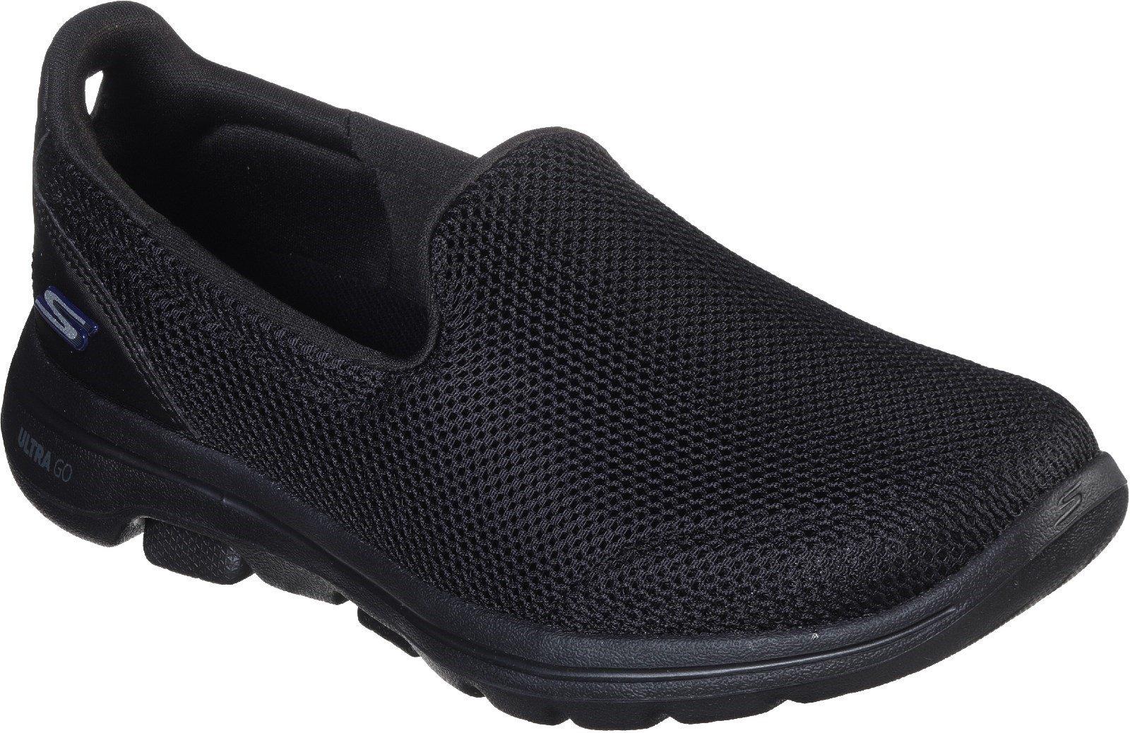 Skechers Women's Gowalk 5 Slip On Trainer Various Colours 30336 - Black/Black 3
