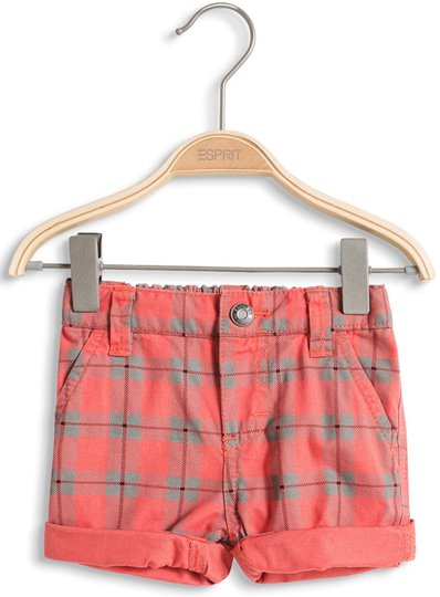ESPRIT Shorts Check, Coral Red Str 62