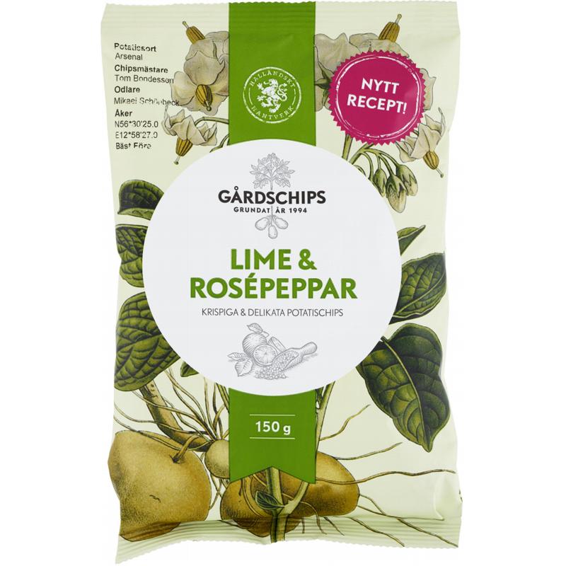 Chips Lime & Rosépeppar 150g - 78% rabatt