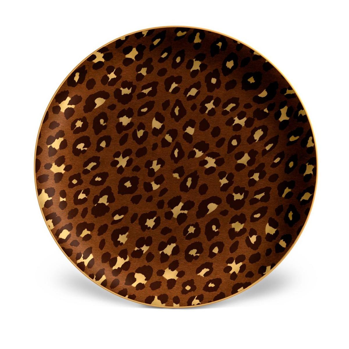 L'Objet I Leopard Charger/Cake Plate