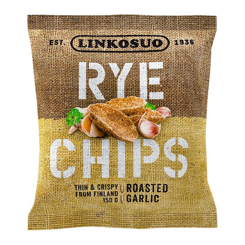 """Rågchips """"Roasted Garlic"""" 150g - 45% rabatt"""