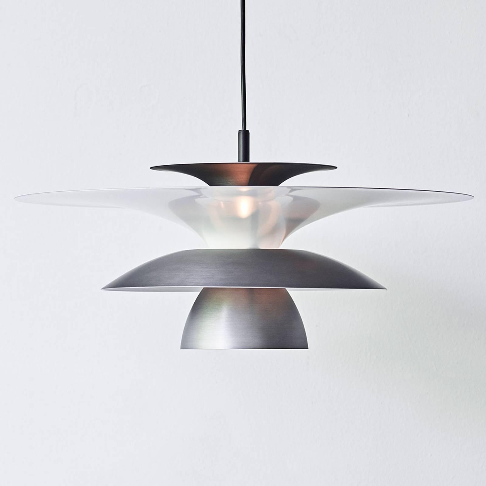 LED-pendellampe Picasso 1 lyskilde Ø 38cm oksidgrå