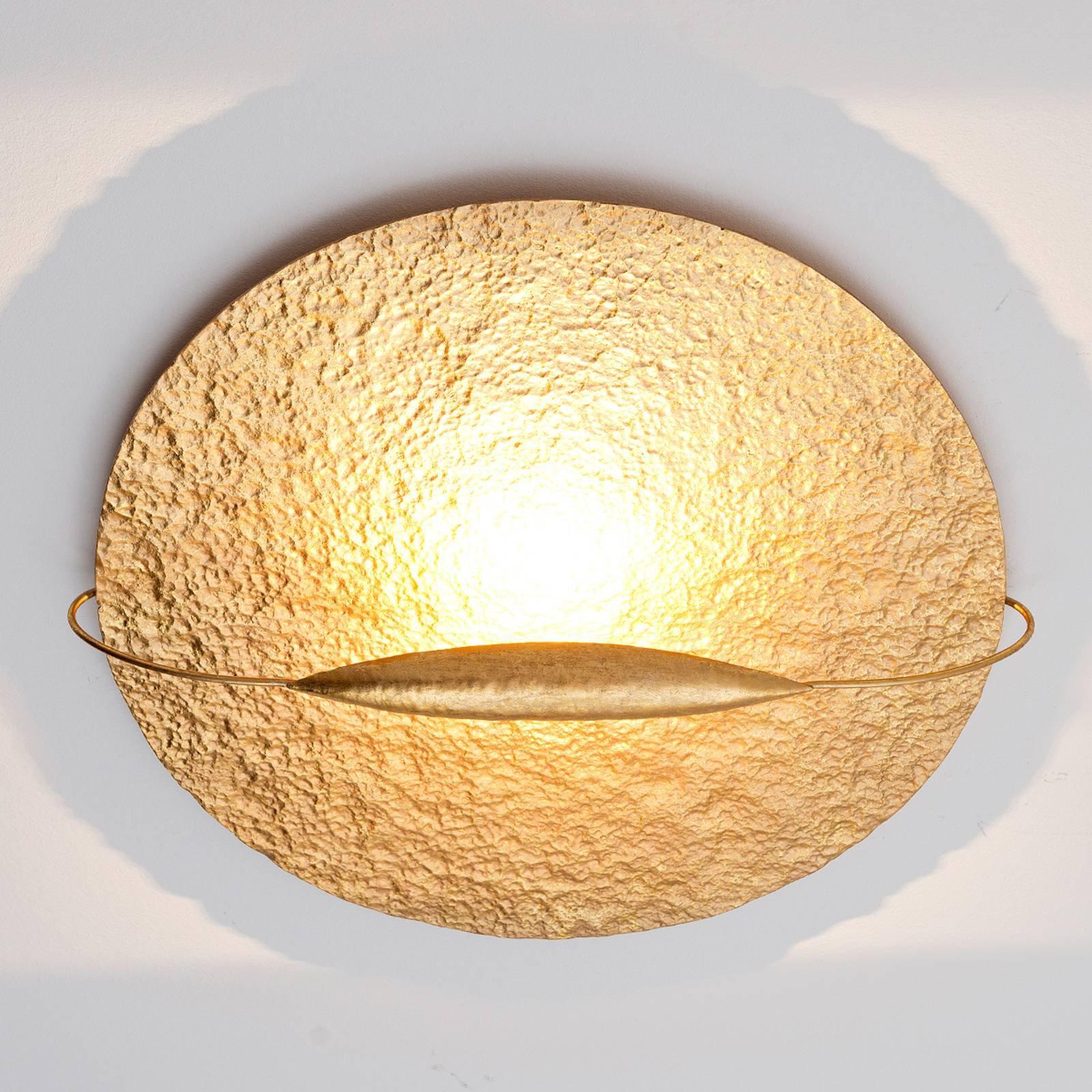 Gullfarget LED-taklampe Satelitt