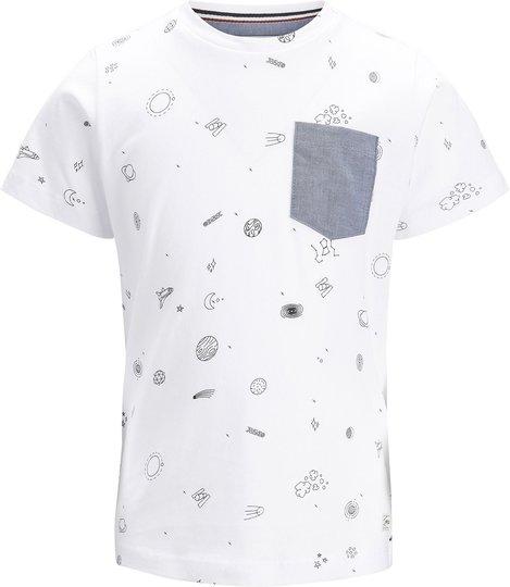 PRODUKT Space Aop T-Shirt, White 122/128