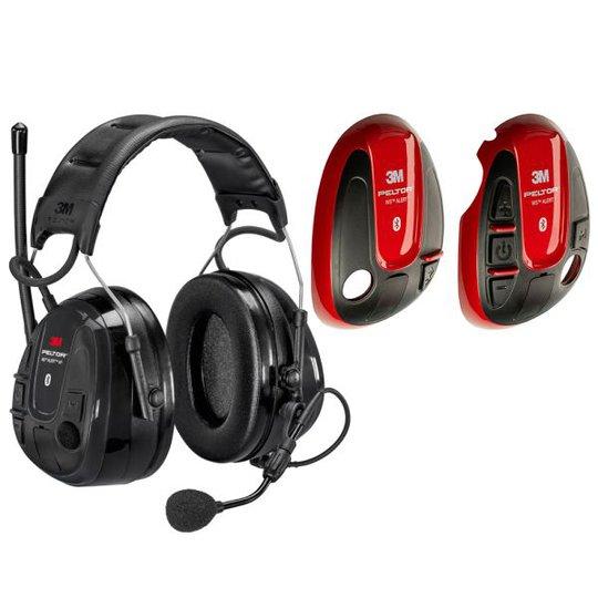 3M Peltor WS Alert XP Kuulonsuojain punainen kuori, Bluetooth, päälakisanka