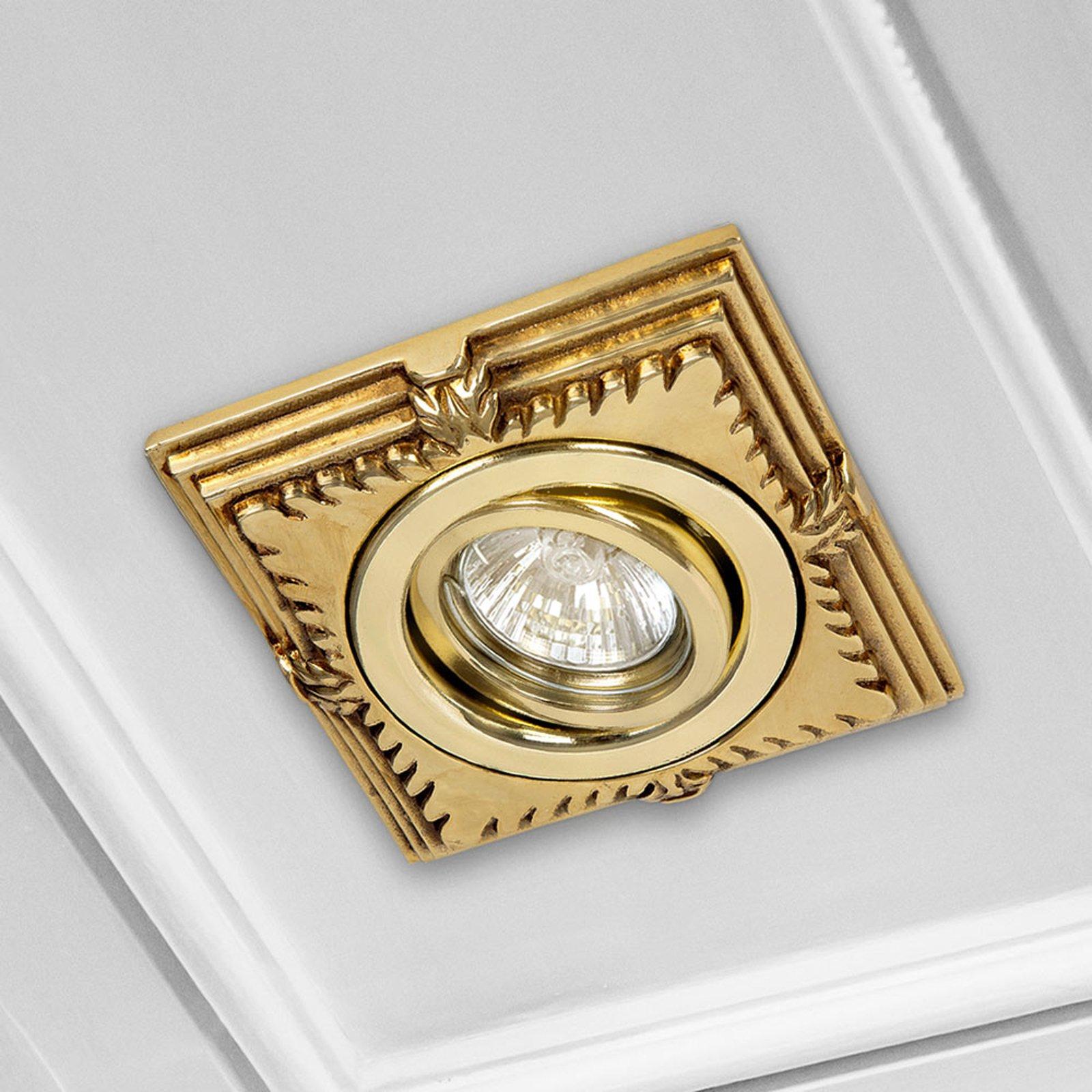 LED-innf.-downlight Katia gull engelsk patinert