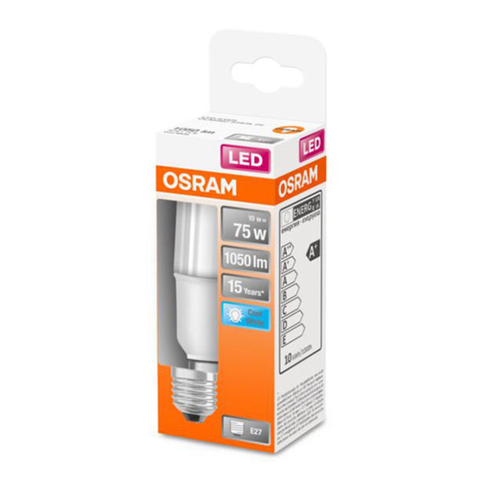OSRAM-LED-lamppu Star Stick E27 10W 4 000 K matta