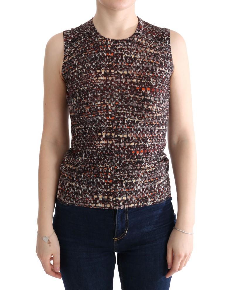 Dolce & Gabbana Women's Print Knit Top Wool Top Multicolor TUI10003 - IT38 XS