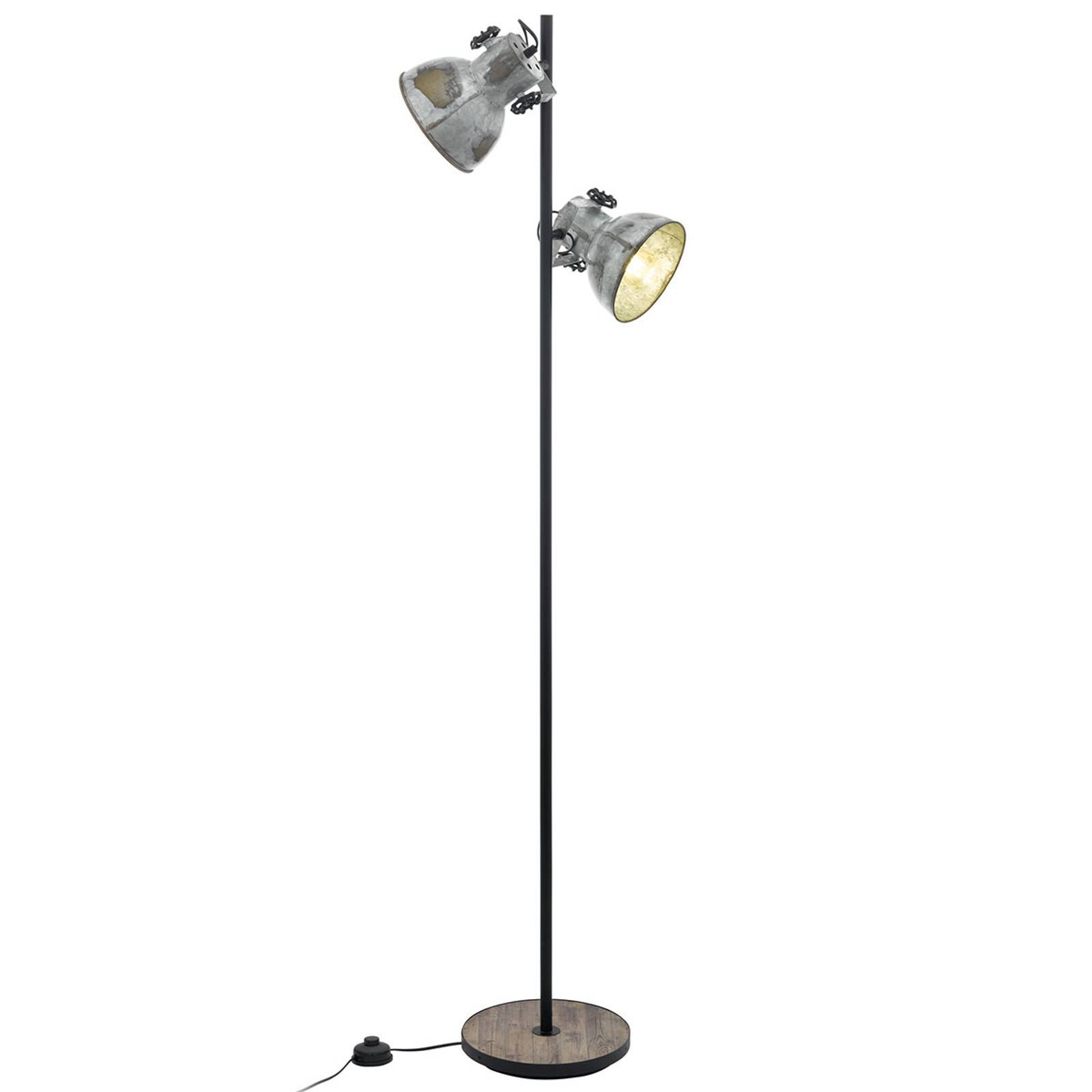 Gulvlampe Barnstaple, 2 lyskilder
