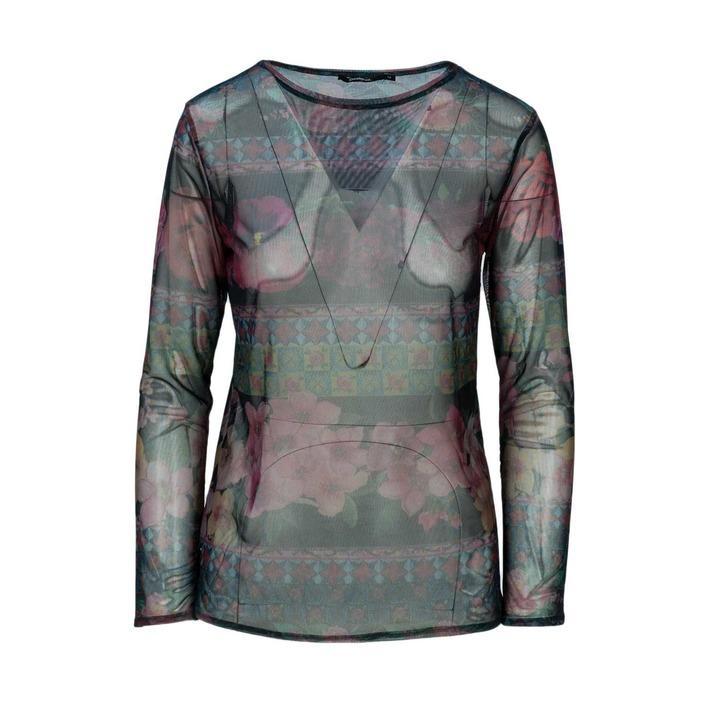 Desigual Women's T-Shirt Black 163881 - black M