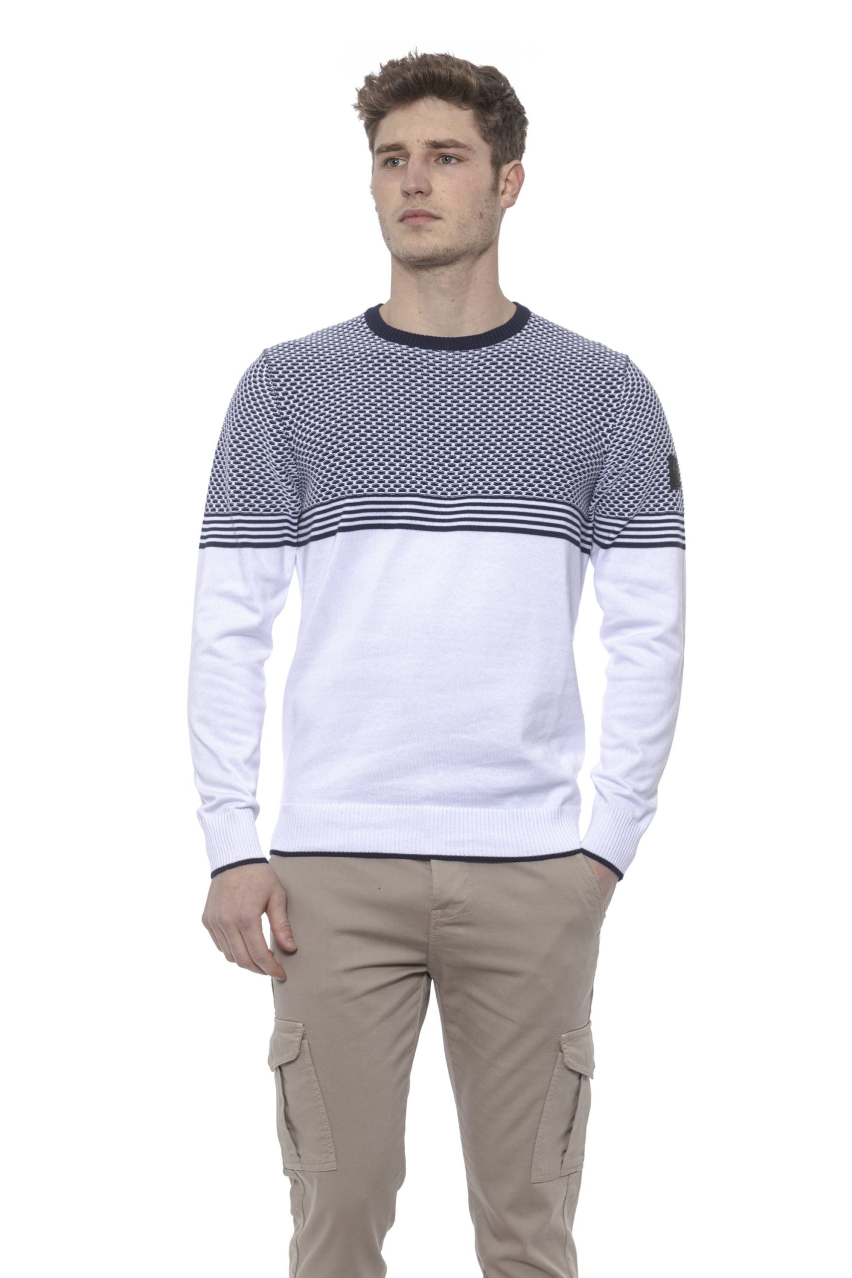 Conte of Florence Men's Sweater White CO1376441 - S