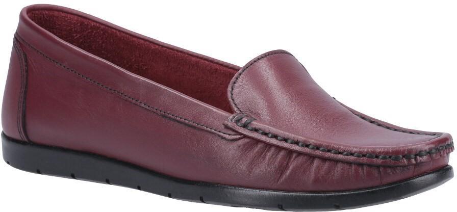 Fleet & Foster Women's Tiggy Slip On Loafer Various Colours 31018-52941 - Wine 3