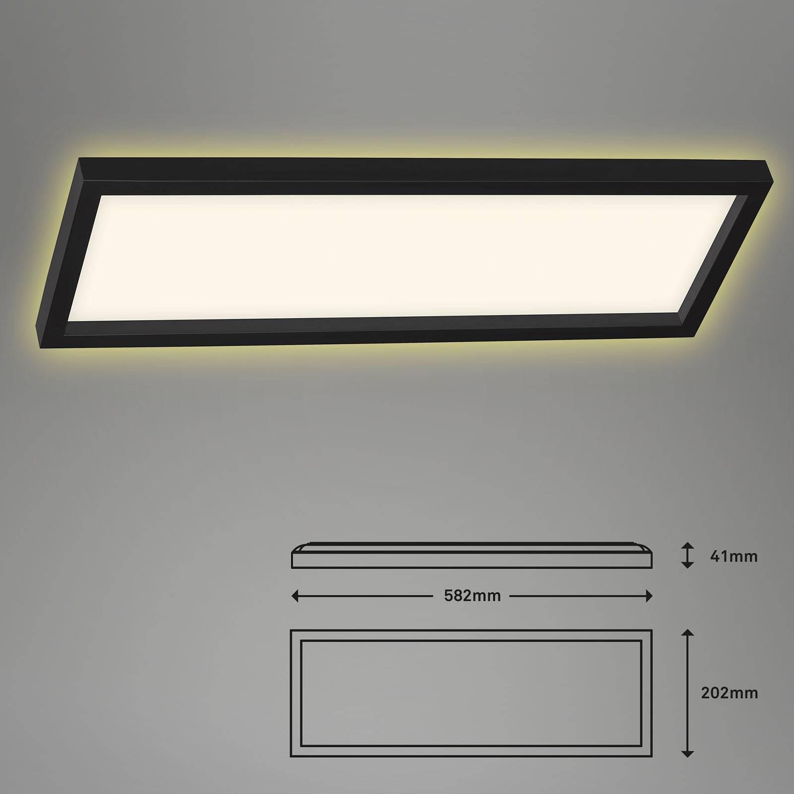 LED-kattovalaisin 7365, 58 x 20 cm, musta