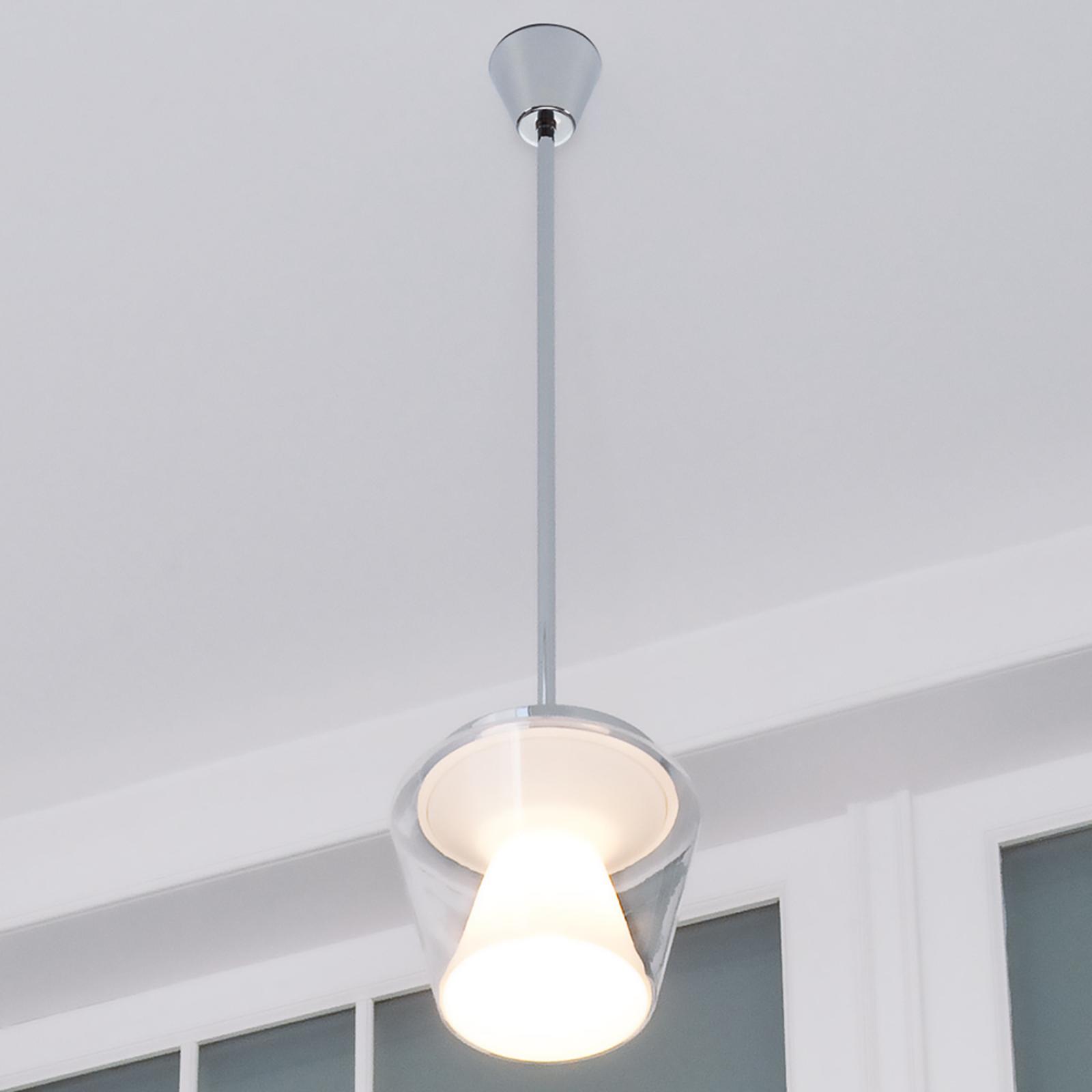 LED-design-riippuvalaisin Annex lasivarjostimella