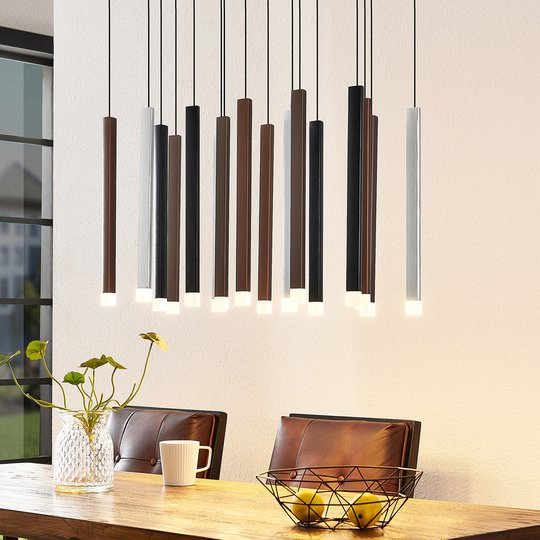 Lucande Stoika -LED-riippuvalaisin, 16-lamppuinen