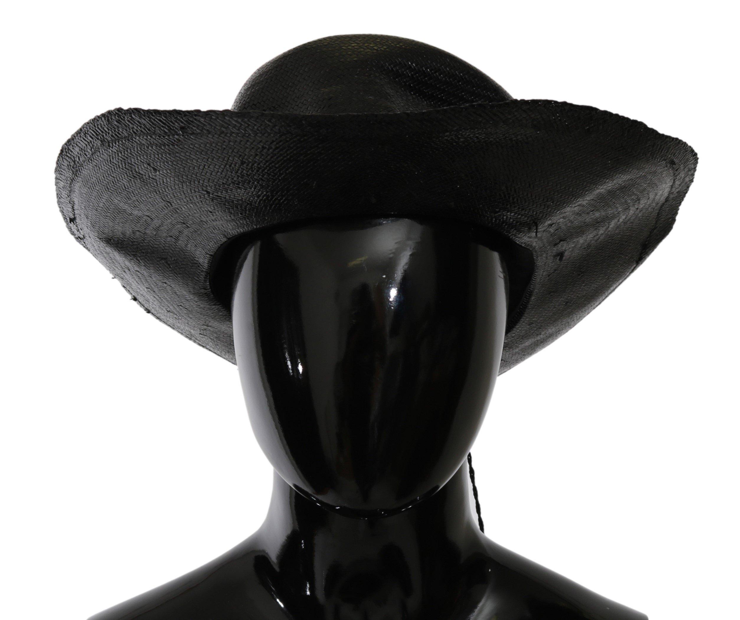 Costume National Women's Wide Brim Solid Hat Black HAT20018 - 58 cm|M