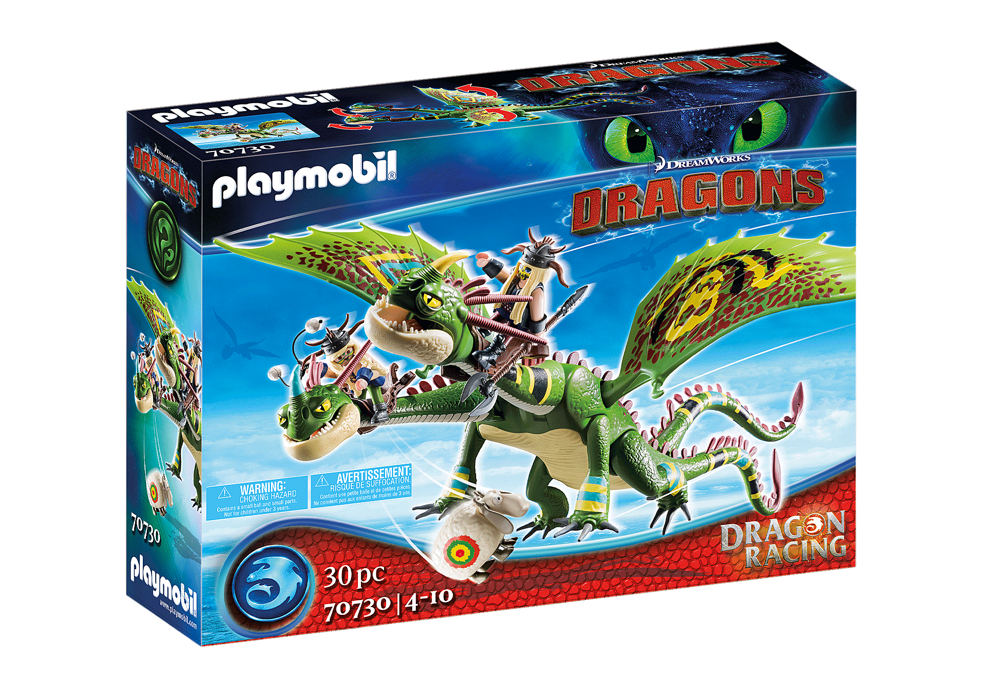 Playmobil - Dragon Racing: Ruffnut and Tuffnut with Barf and Belch (70730)