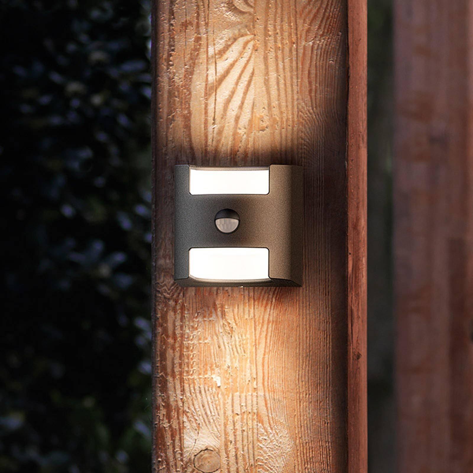 Grass - Sensor-vegglys i antrasitt m. LED-Lys