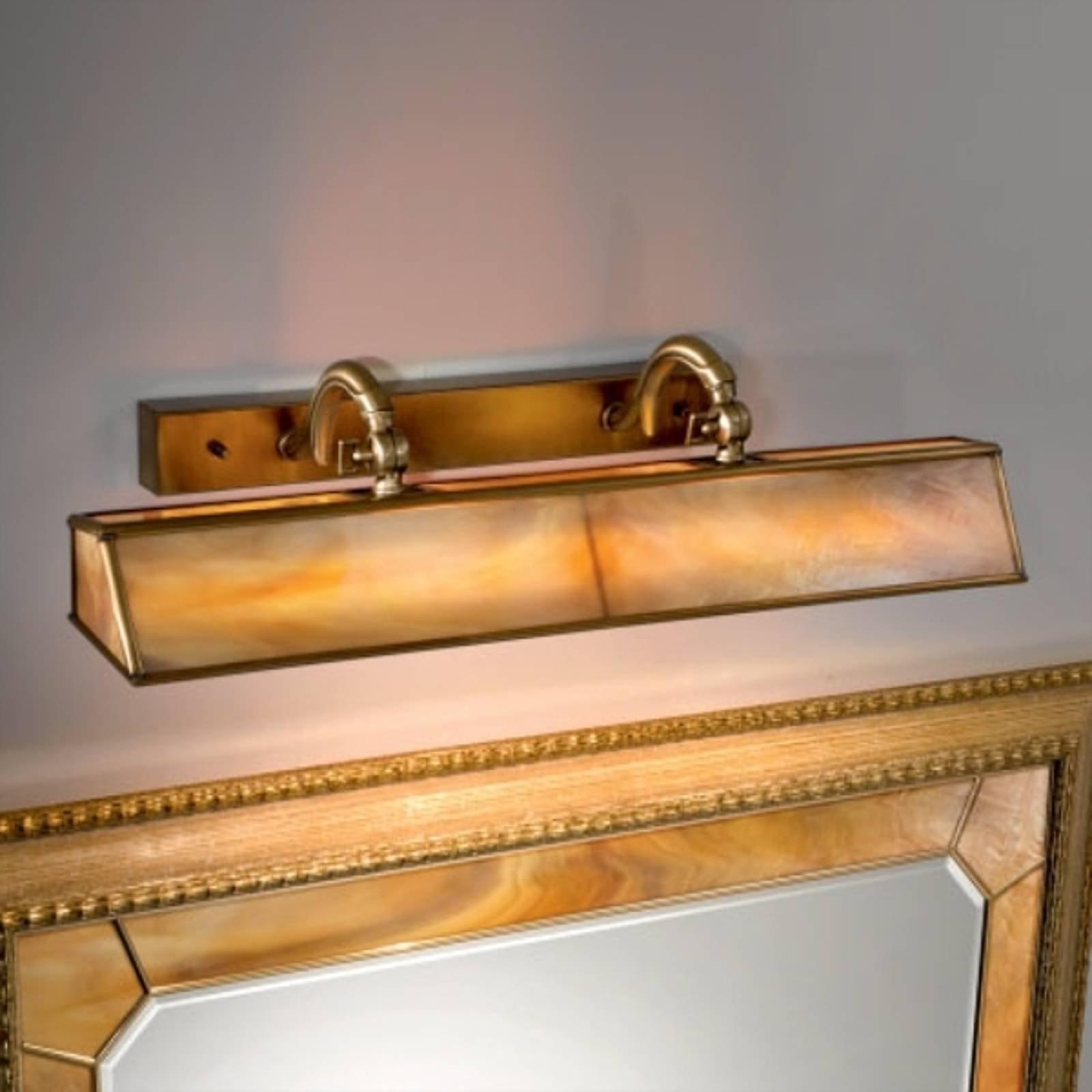 Klassisk Galleria bildebelysning i ambra/messing