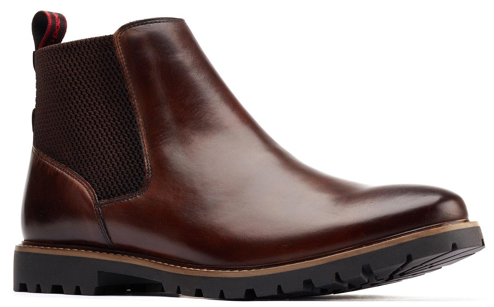 Base London Men's Anderson Chelsea Boot Various Colours 31192 - Brown 6
