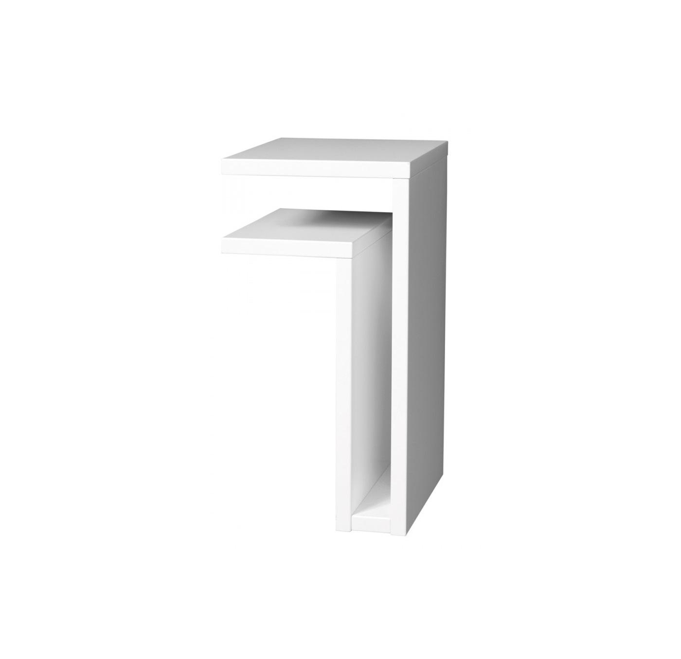 Vägghängt sängbord F-shelf vit vänster, Maze