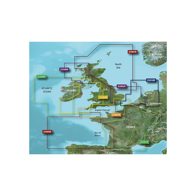 Garmin Benelux Offshore & Inland Garmin microSD™/SD™ card: VEU018R