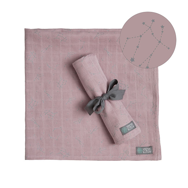 Vinter & Bloom - Northern Lights Blanket - Stella Pink