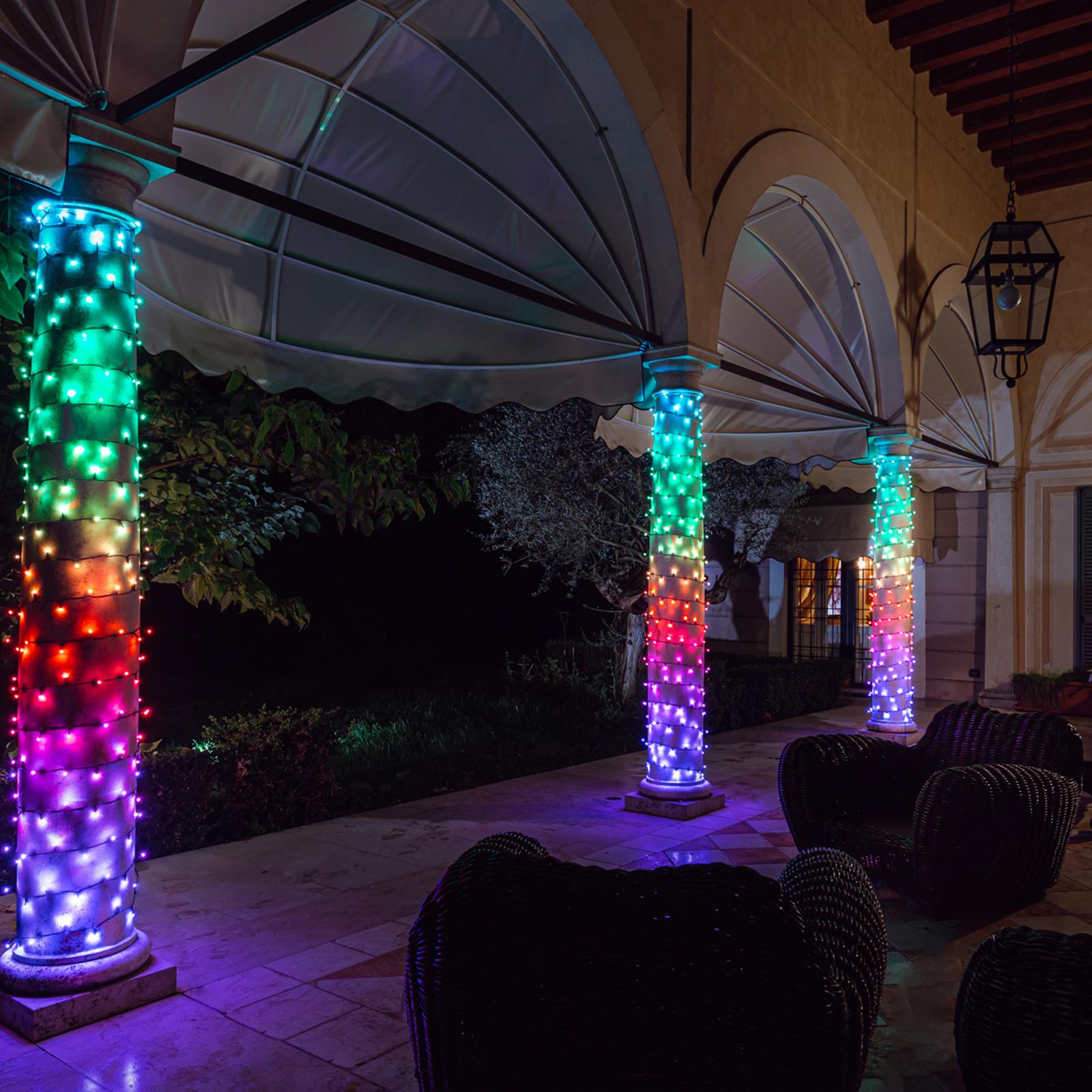 Valoketju Twinkly RGB, musta, 100-lamppuinen, 8 m