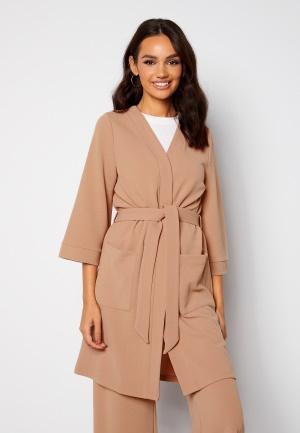 Happy Holly Estelle long kimono Beige 48/50