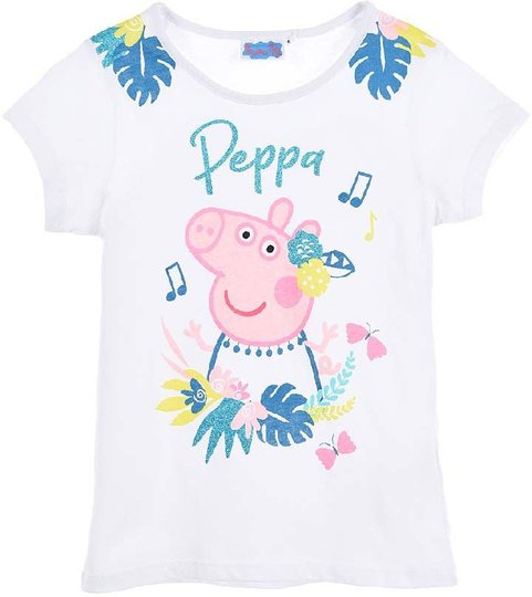 Greta Gris T-Shirt, White, 3 År