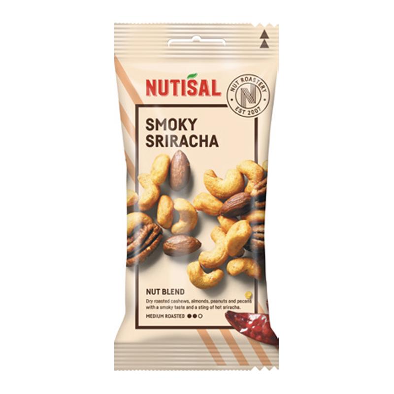Nutisal Smoky Sriracha Nötter 55g