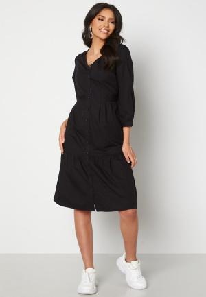 Happy Holly Adelyn balloon sleeve dress Black 36/38