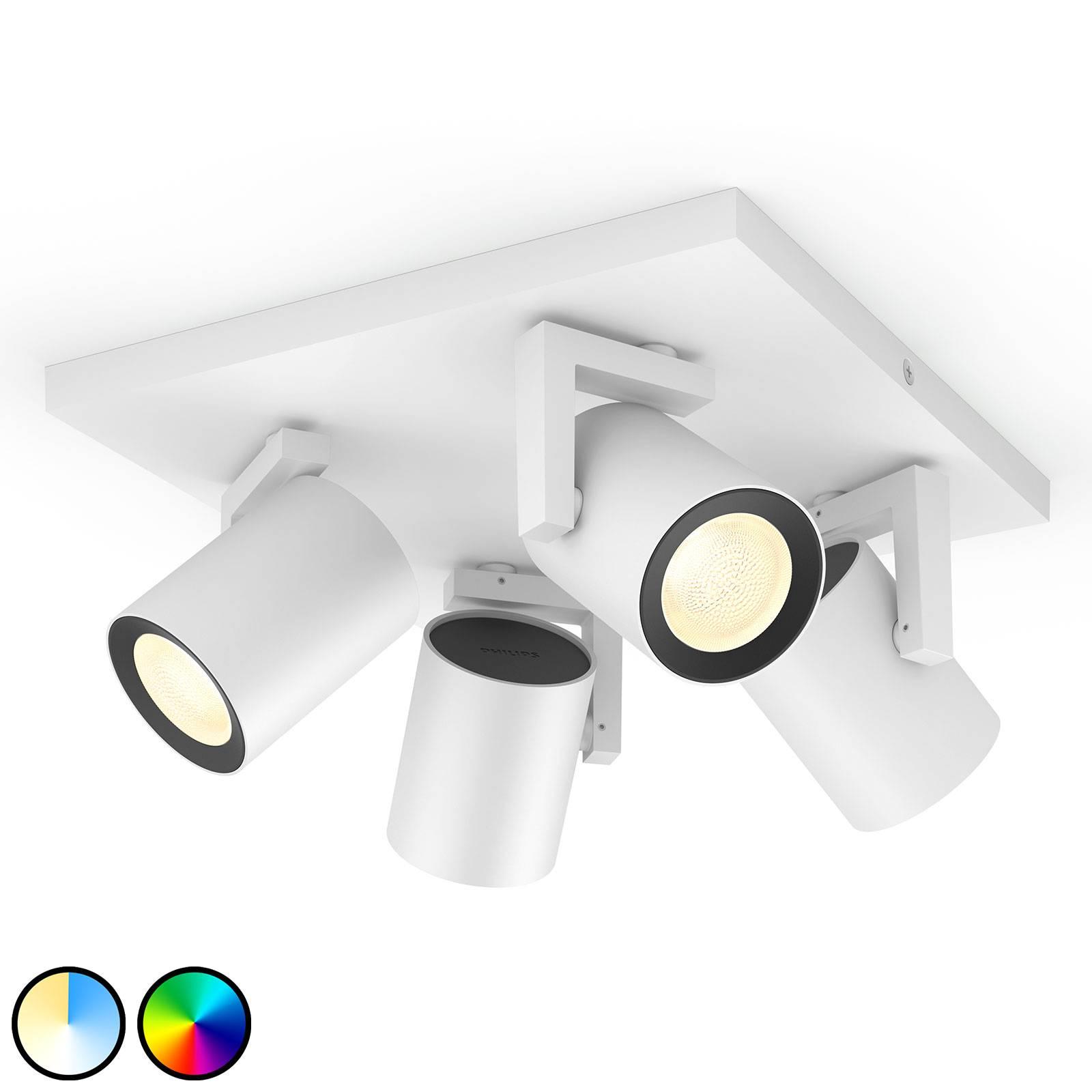 Philips Hue Argenta LED-spotti 4-lamp. valkoinen