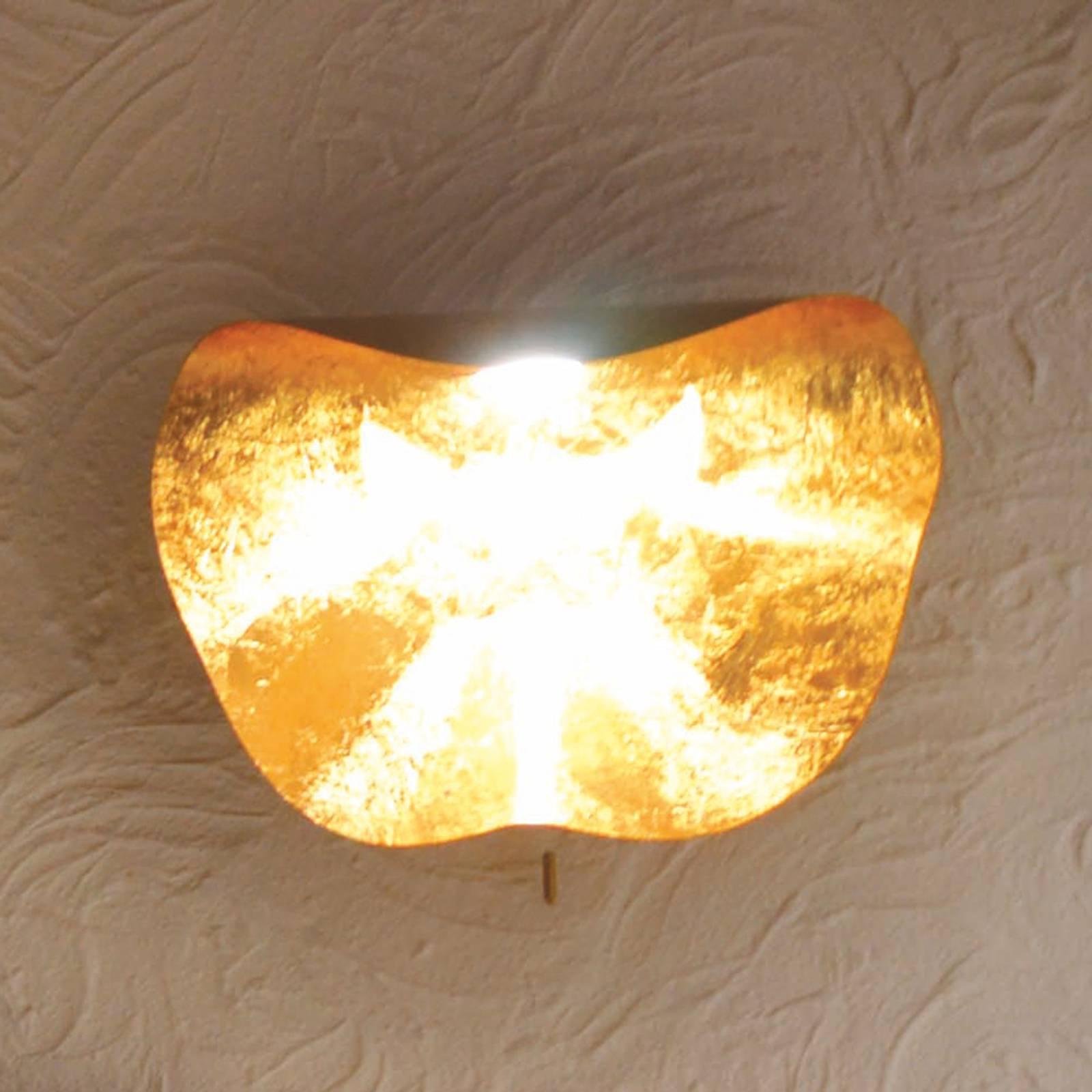 Knikerboker Non So LED-vegglampe bladgull