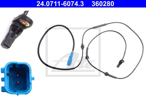 ABS-anturi ATE 24.0711-6074.3