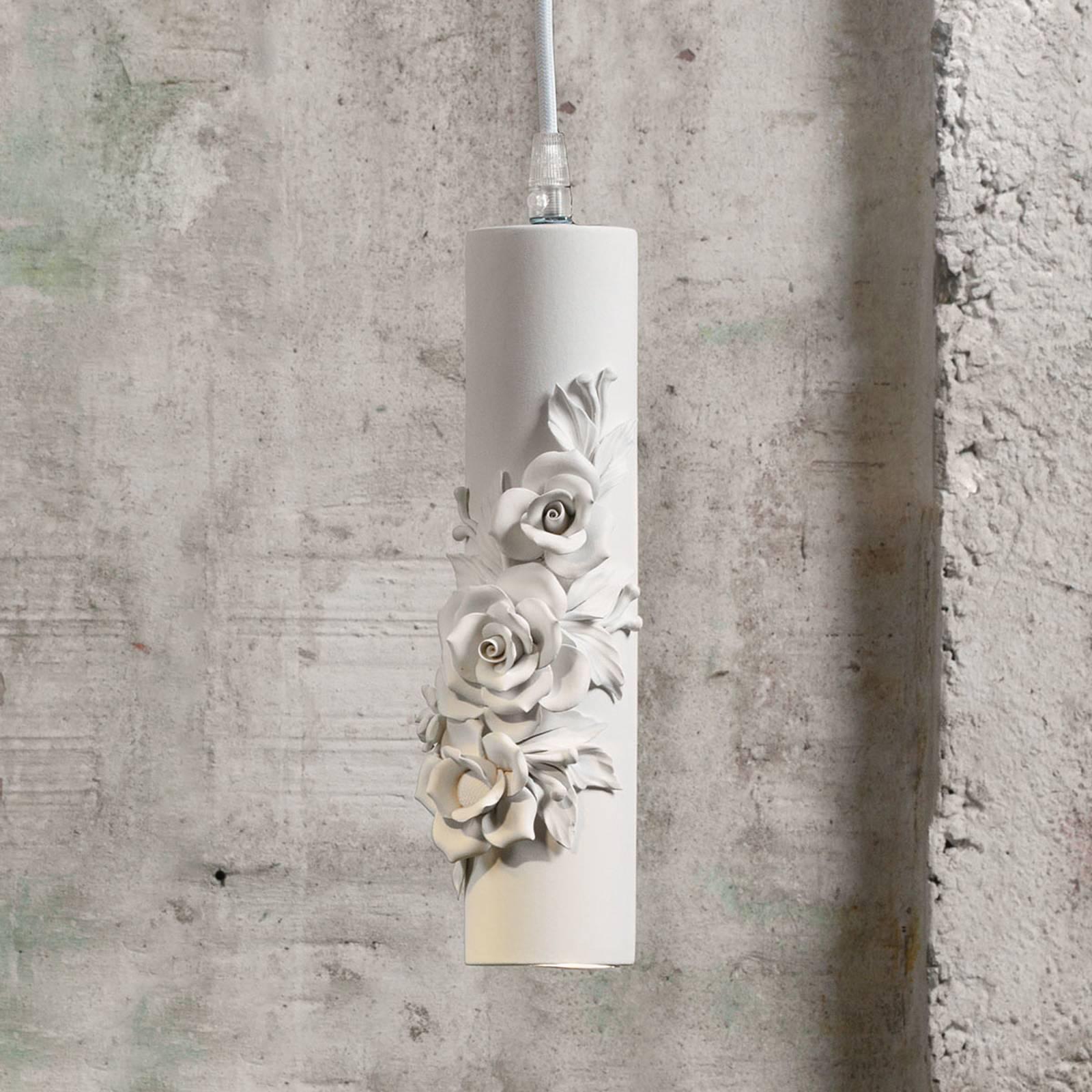 Design-LED-riippuvalaisin Capodimonte, keramiikkaa